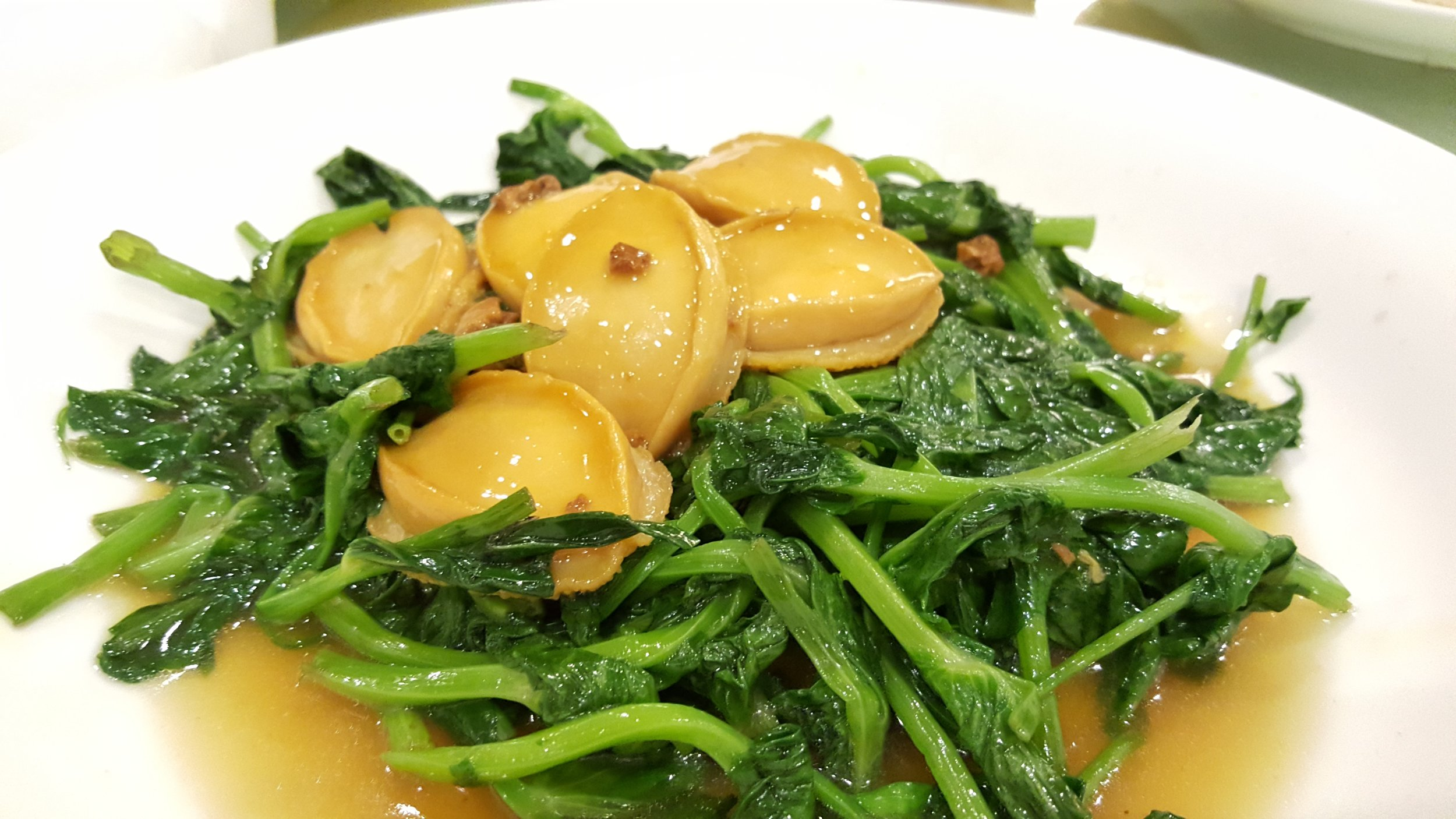 Braised Whole Abalone & Greens