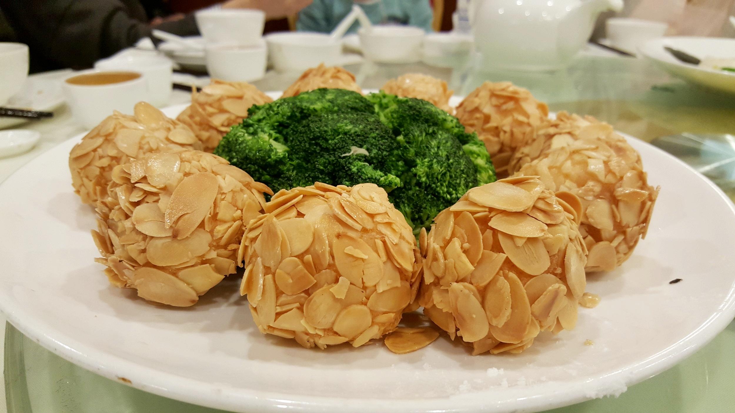 Deep Fried Almond Shrimp Ball