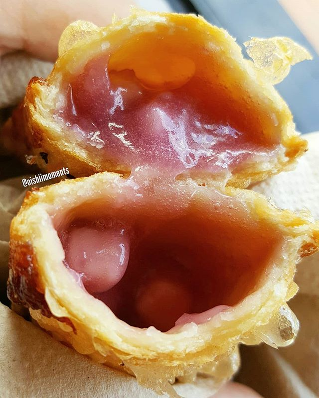 Taro pie from McD's!!! It's our favorite snack when we are visiting Hawaii... 😍😁