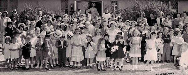 Easter 1951, CC church school children, Orange Avenue.