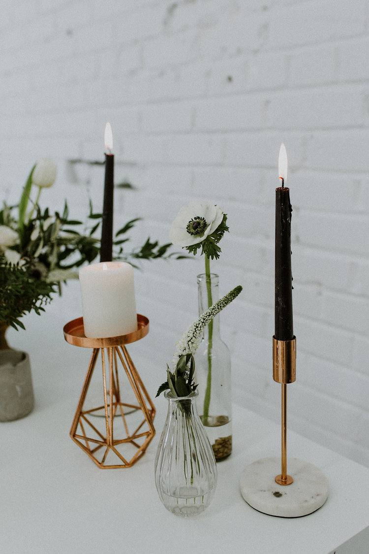 1164    Chandelier rose gold geo / Rose Gold Geo Candle Holders    4