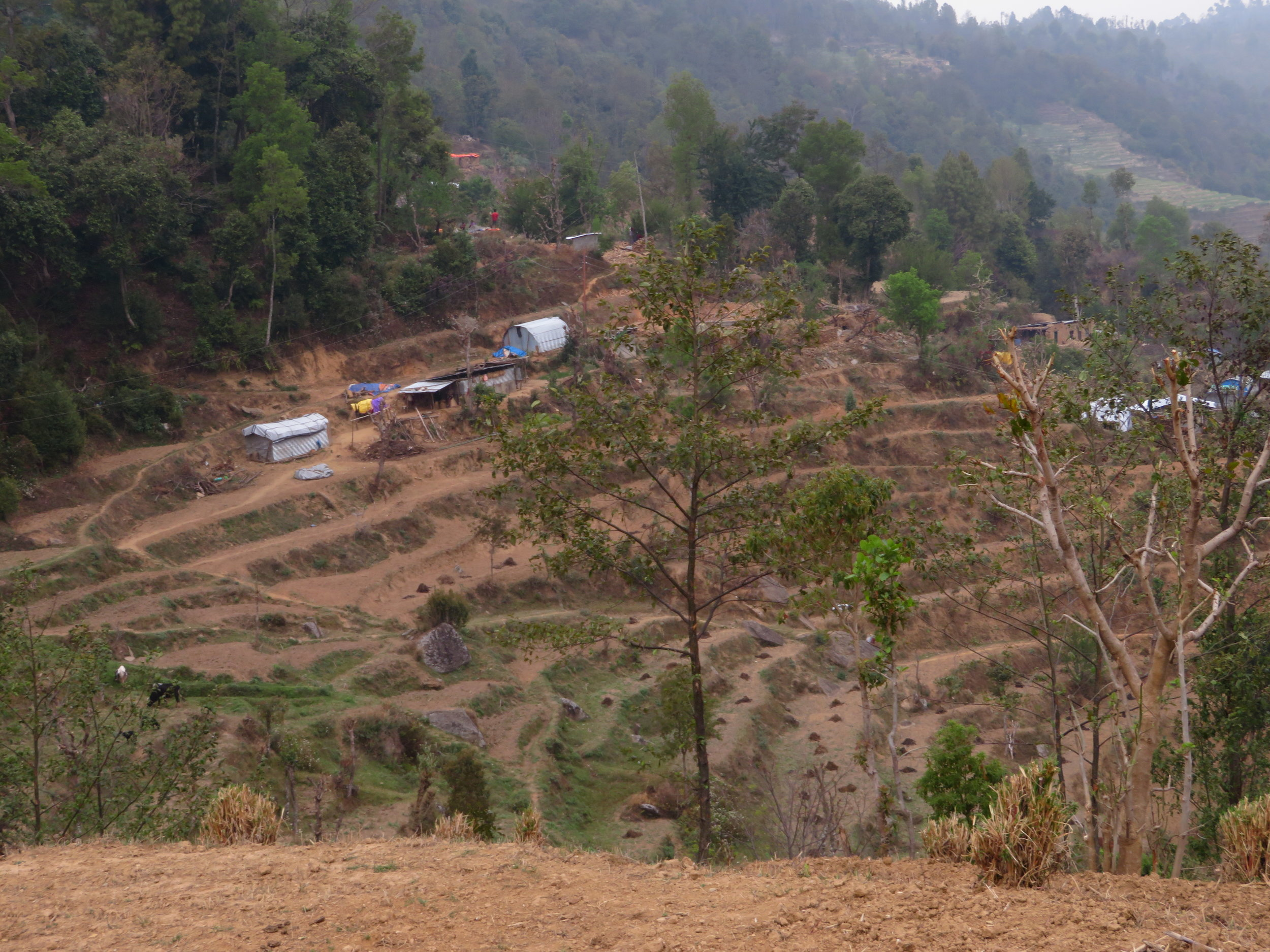 Terraced Hills, Yet Most still live in emergency shelters 2 years after the quakes