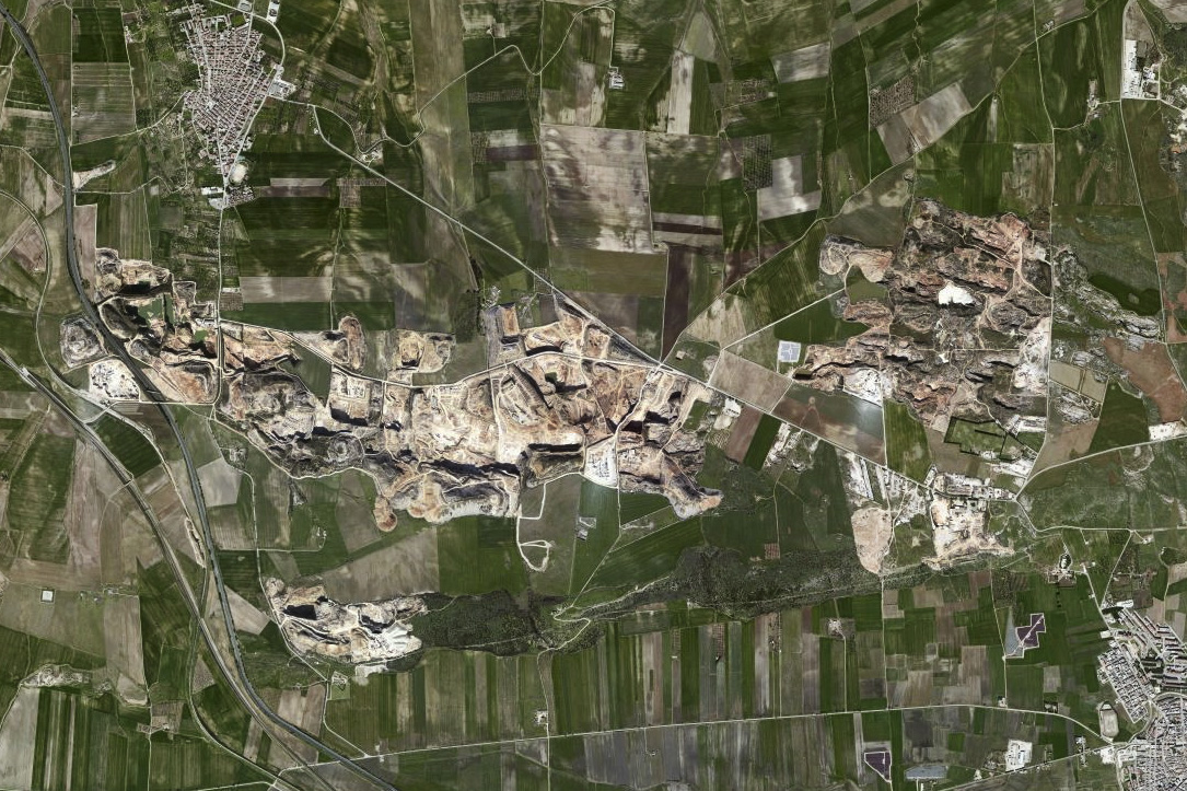 Satellite view of the district.