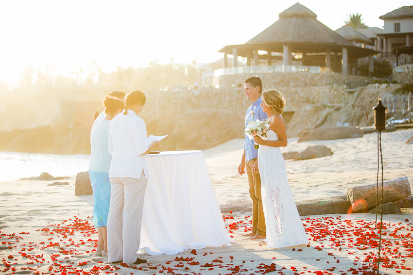 intimate cabo beach ceremony