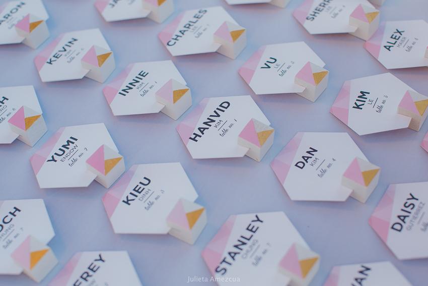 cabo wedding placing cards