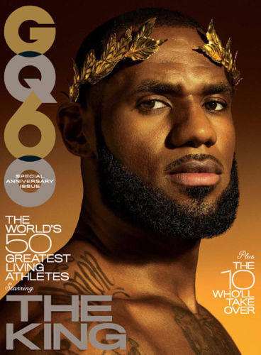 Lebron James featured on the cover of GQ's 60th issue : The World's 50 Greatest Living Athletes