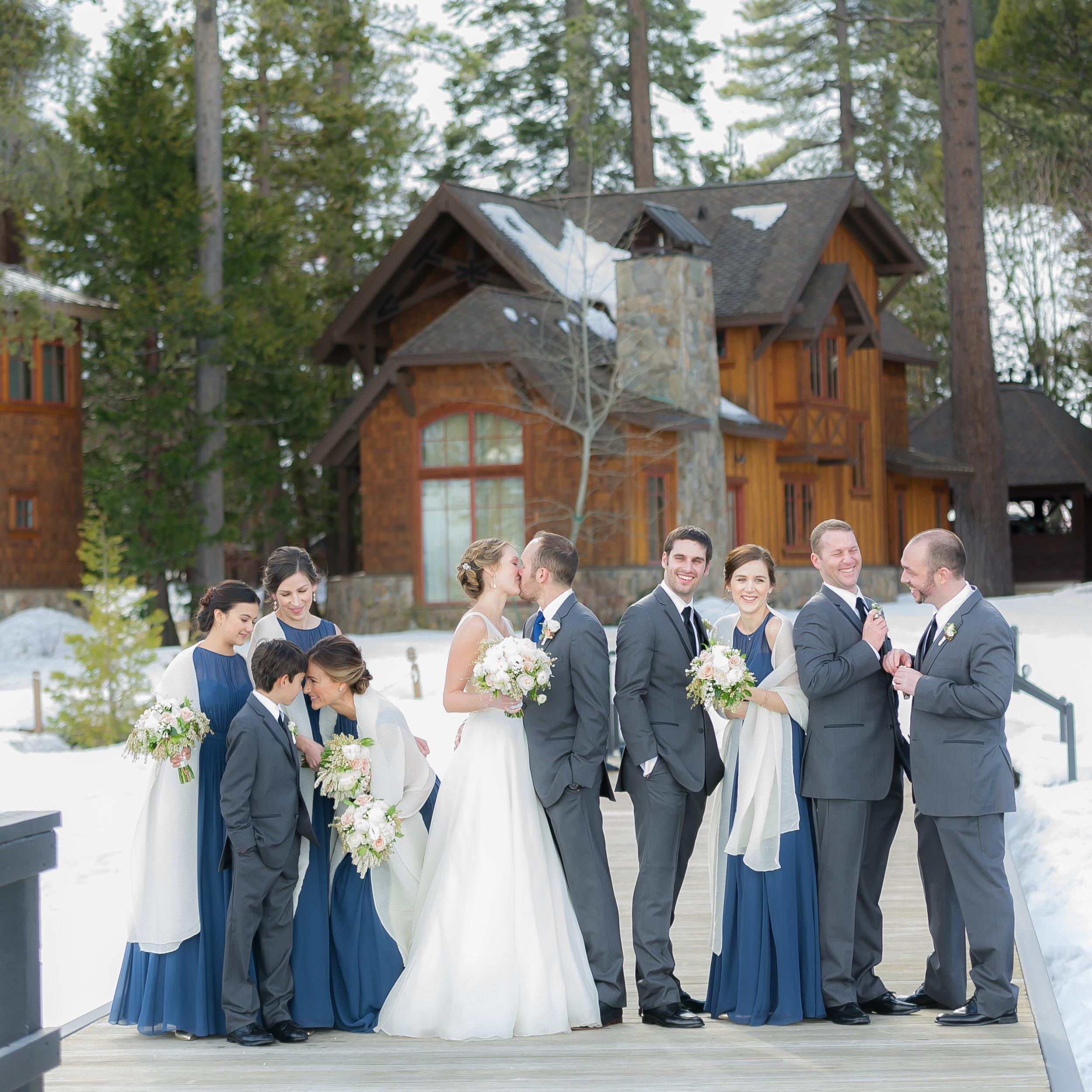 winter, lakeside tahoe wedding | Julia & Robert | westshore cafe & inn, homewood, CA