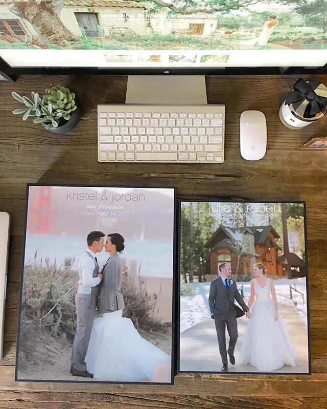 "TWO wedding books arrived today!!! I 💚 getting wedding books in the mail:  1)  Kristel + Jordan's 12""x""15"" 200 pp Wedding Couture Book 