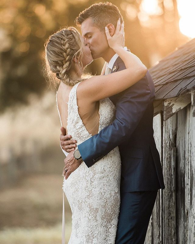 Happy One Week to these two!!! Loved sneaking off for sunset photos.  #sunset #sneakoffforsunset #barnwedding #petalumawedding