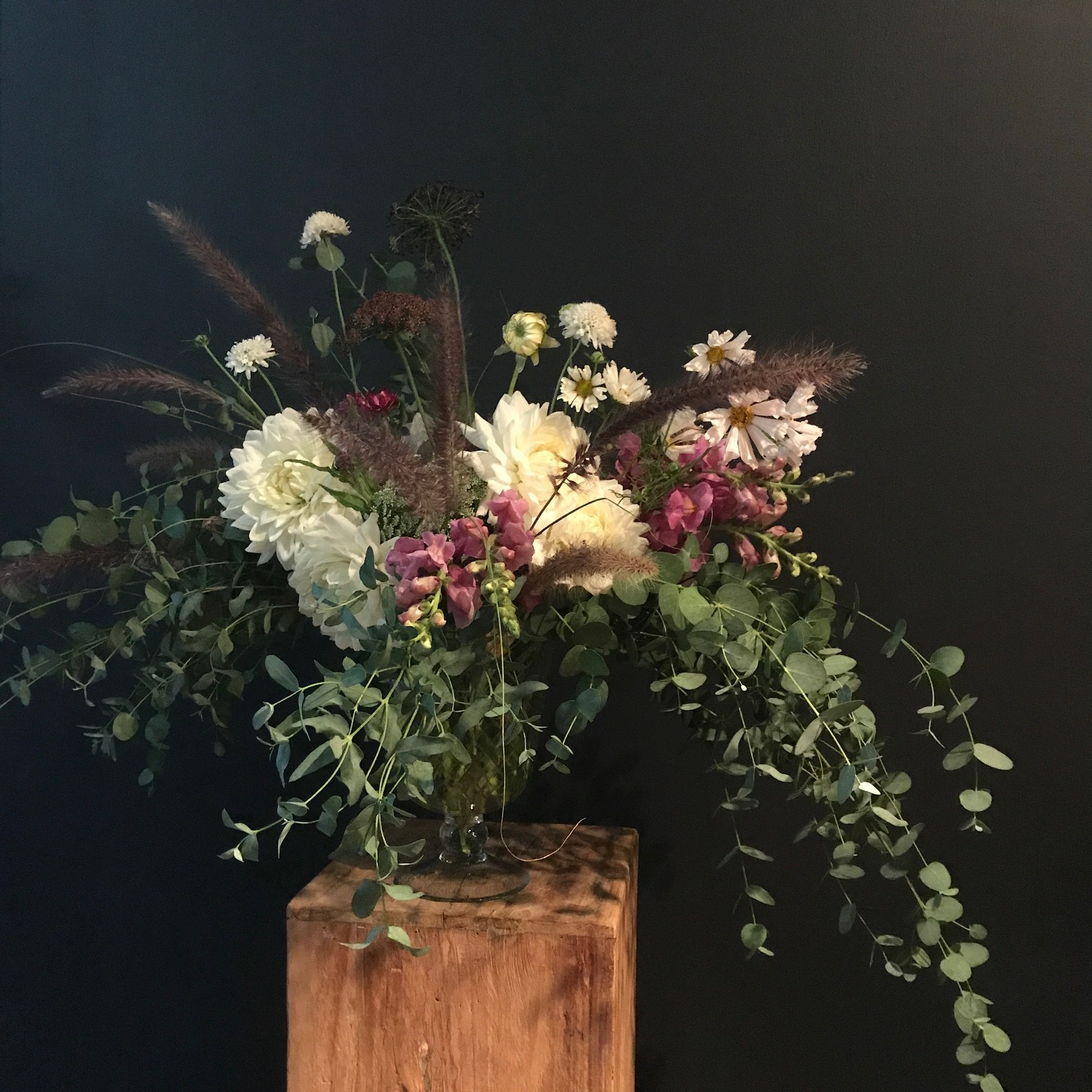 My arrangement from Flower School's Master Class with Lewis Miller.