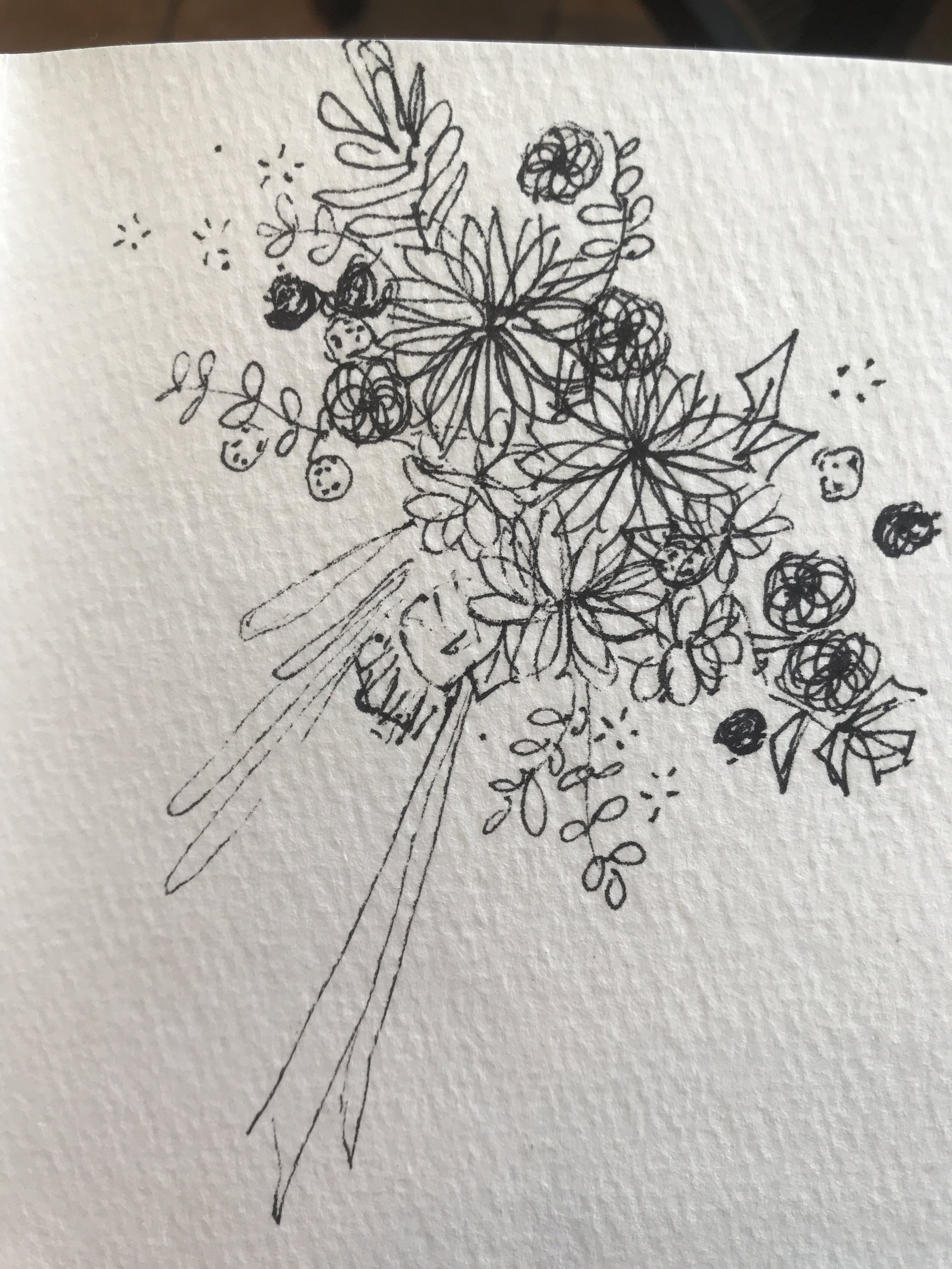 Drawing For Wedding Floral Design Intro To Sketches Little Farmhouse Flowers