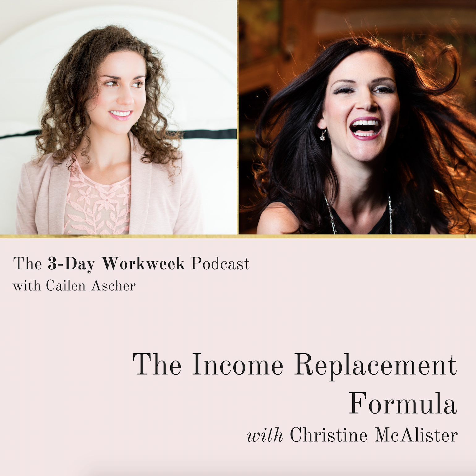 The 3-Day Workweek Podcast with Cailen Ascher - 2018-05-02 - The Income Replacement Formula with Christine McAlister - Square Promo Image.png