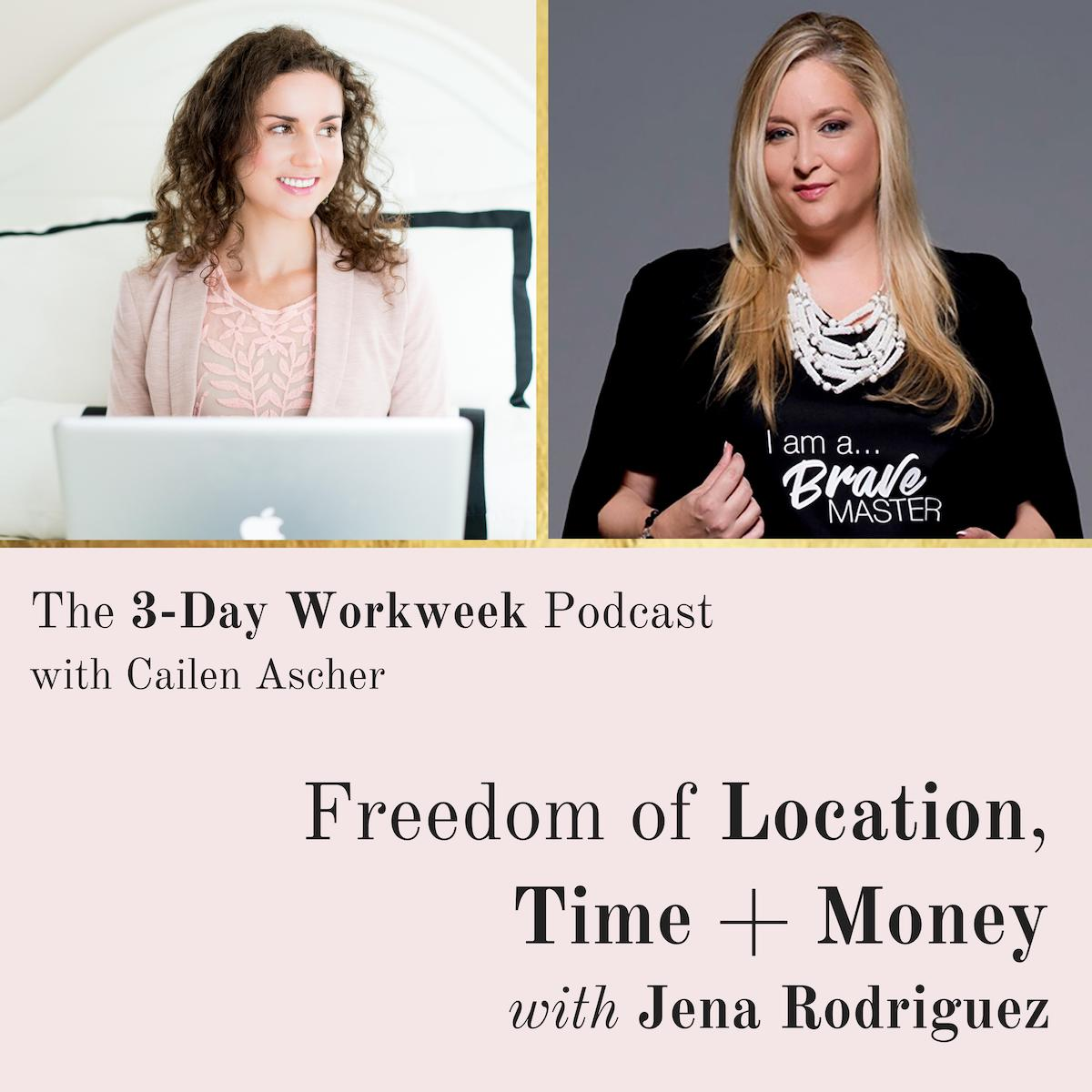 The 3-Day Workweek Podcast with Cailen Ascher - 2019-04-24 - Freedom of Location, Time, and Money with Jena Rodriguez.jpg