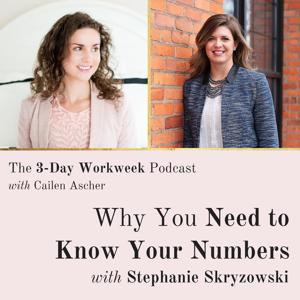 The 3-Day Workweek Podcast with Cailen Ascher - 2019-06-12 - Why You Need to Know Your Numbers with Stephanie Skryzowski.jpg