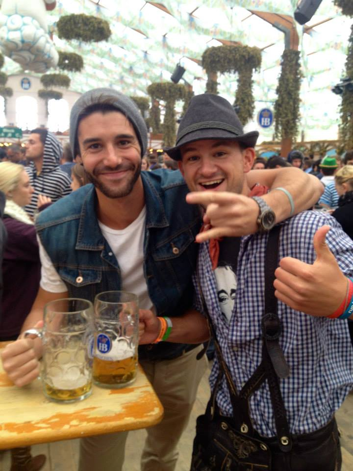 #FlashBackFriday to Tony & Cam drinking their weight in carbs at Oktoberfest in Munich, Germany. P.S. Is that a FUCKING jean vest I wore? What was I thinking....