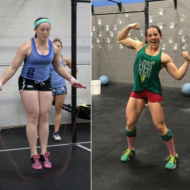 My CrossFit Transformation - Left: May 2015 Right: December 2016