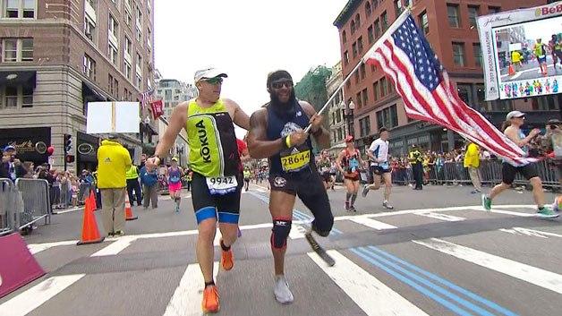boston marathon vet marine