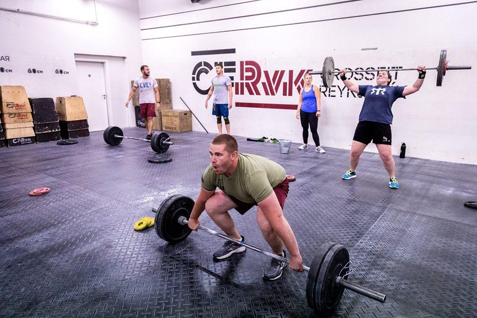 Ryan killing it at CrossFit Reykjavik