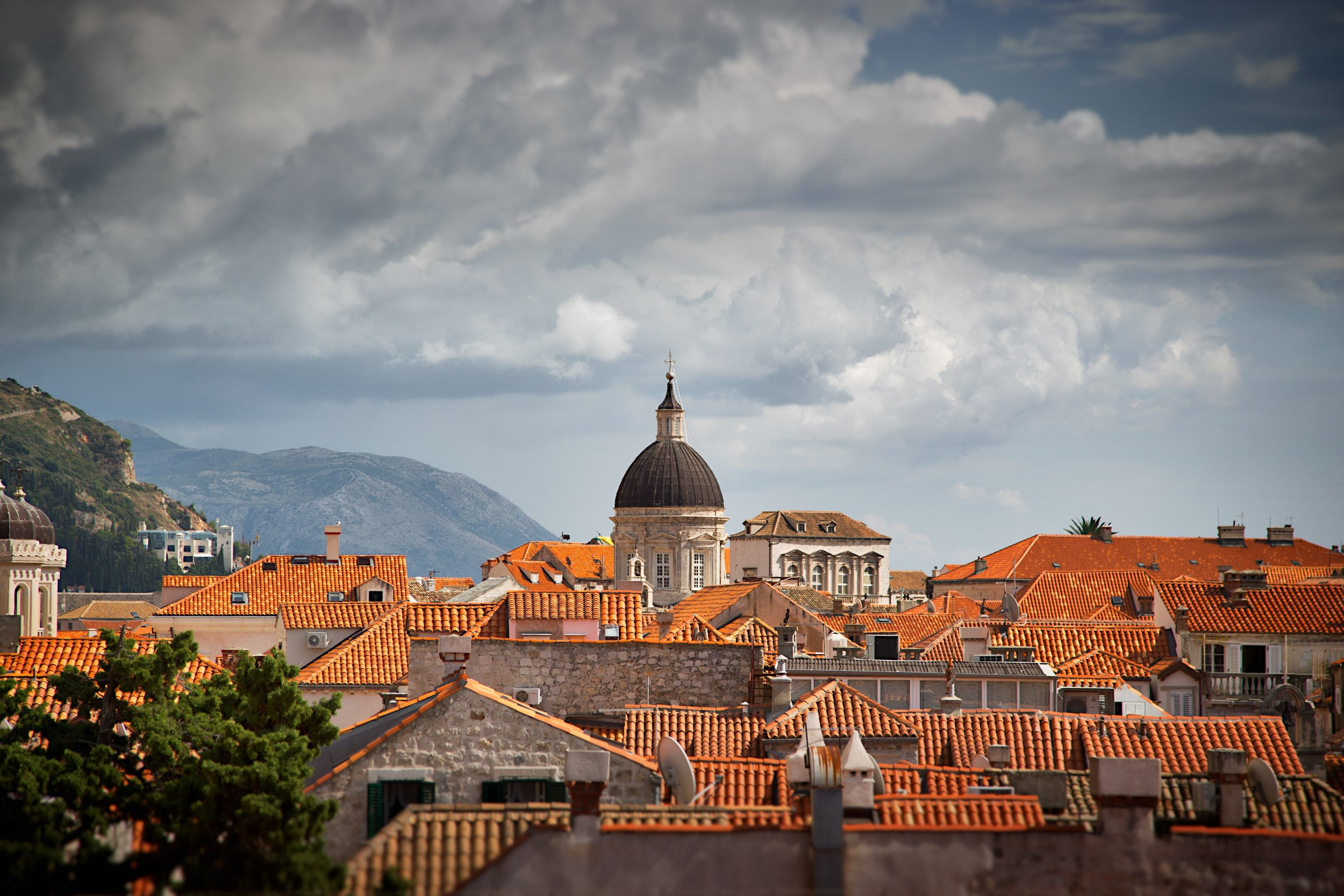 clay roofs of dubrovnik