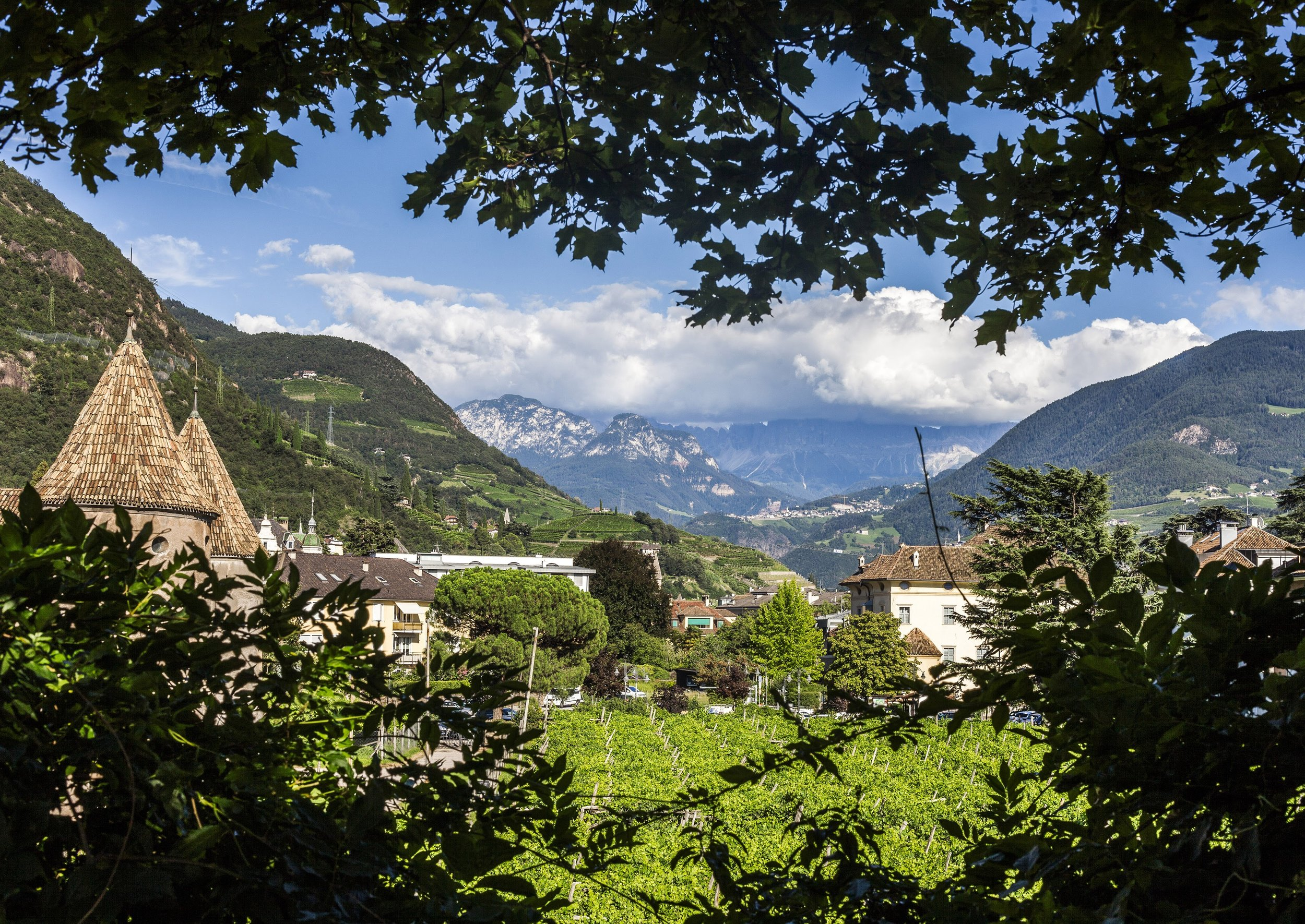The famous Runkelstein Castle near Bolzano