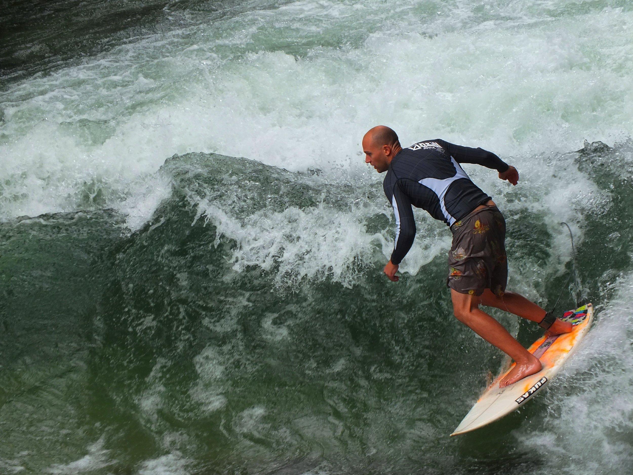 surfing munich, germany
