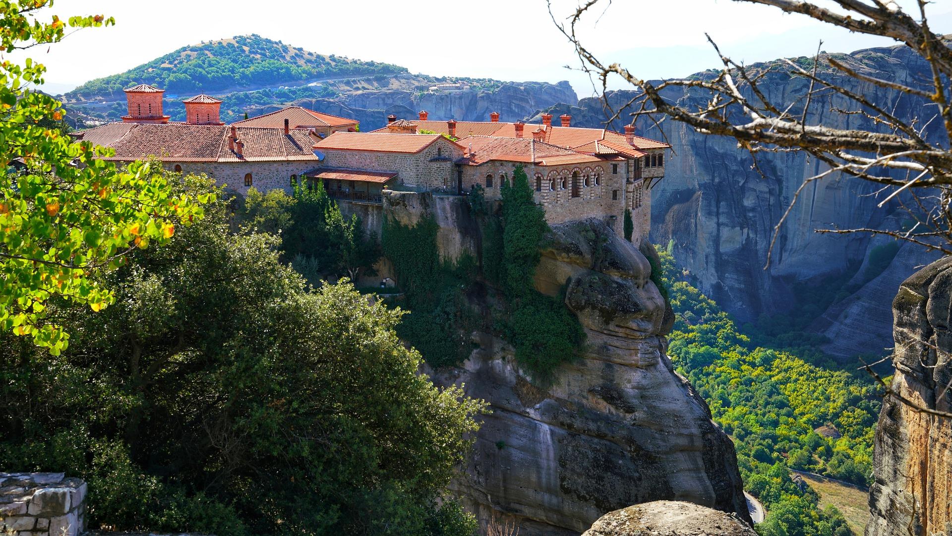 One of six remaining monasteries in Meteora, Greece
