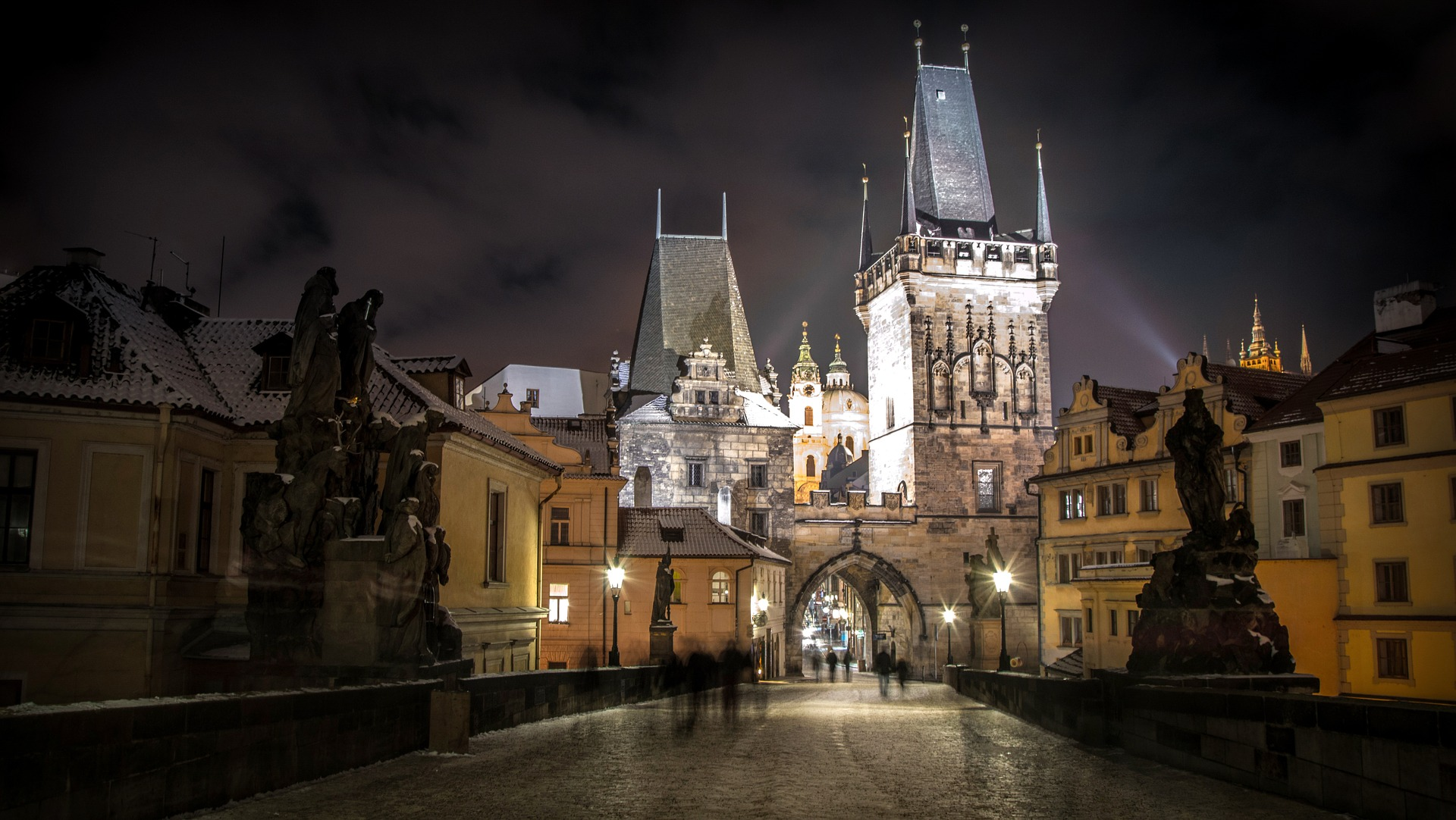 Prague, an entirely different city at night.