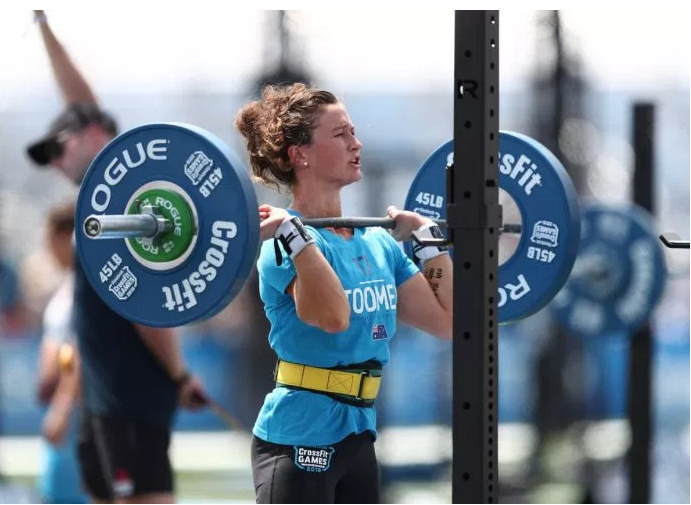 """""""The Redeemed,"""" - Tia-Clair Toomey. Photo courtesy of CrossFit Inc."""