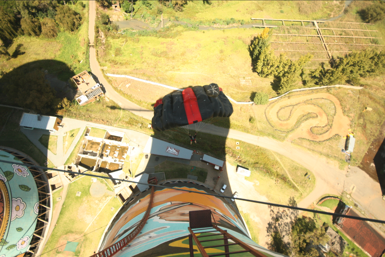 BASE jumping at the Orlando Towers
