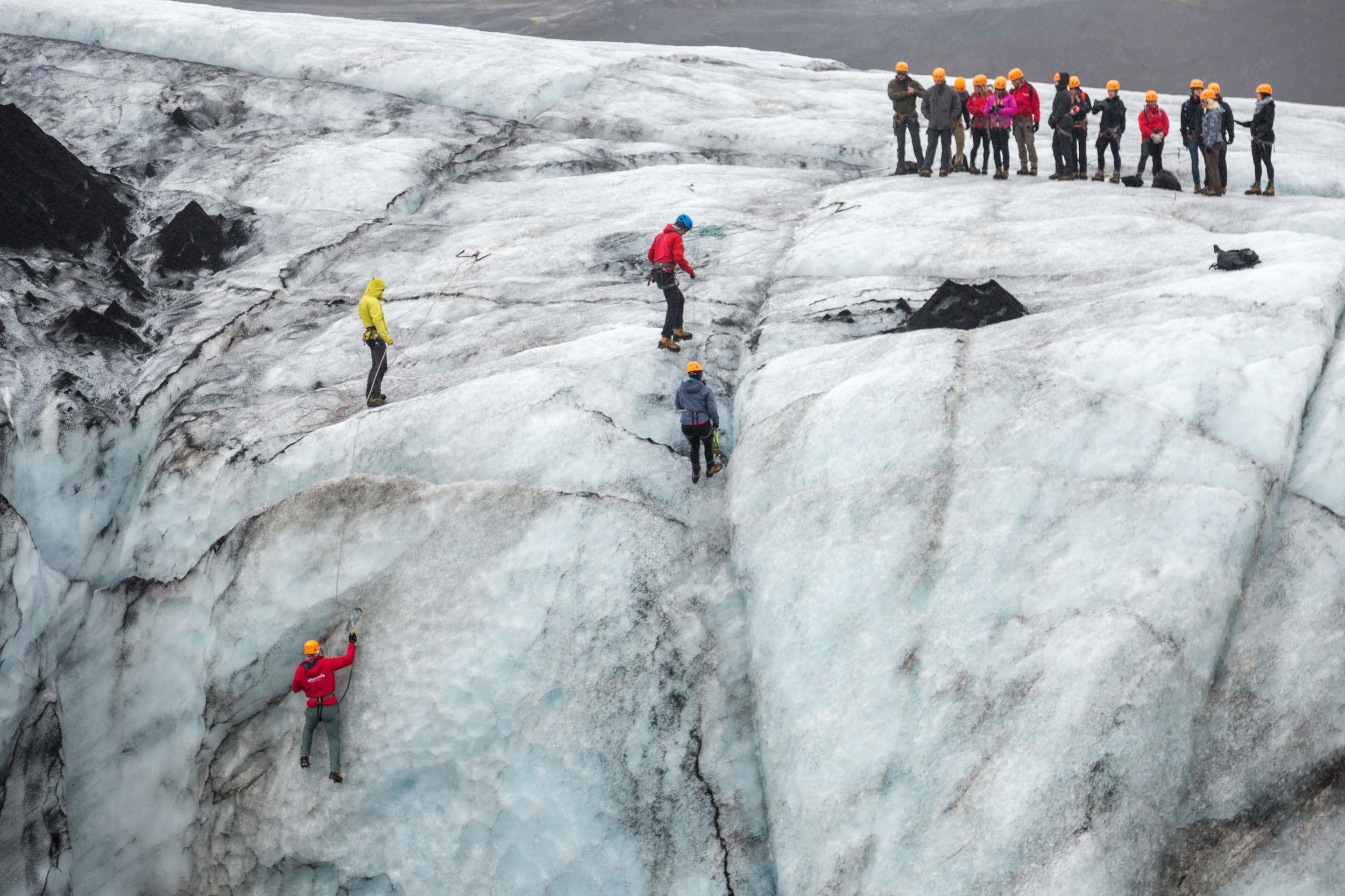 Ice climbing in Iceland….ironic, right?