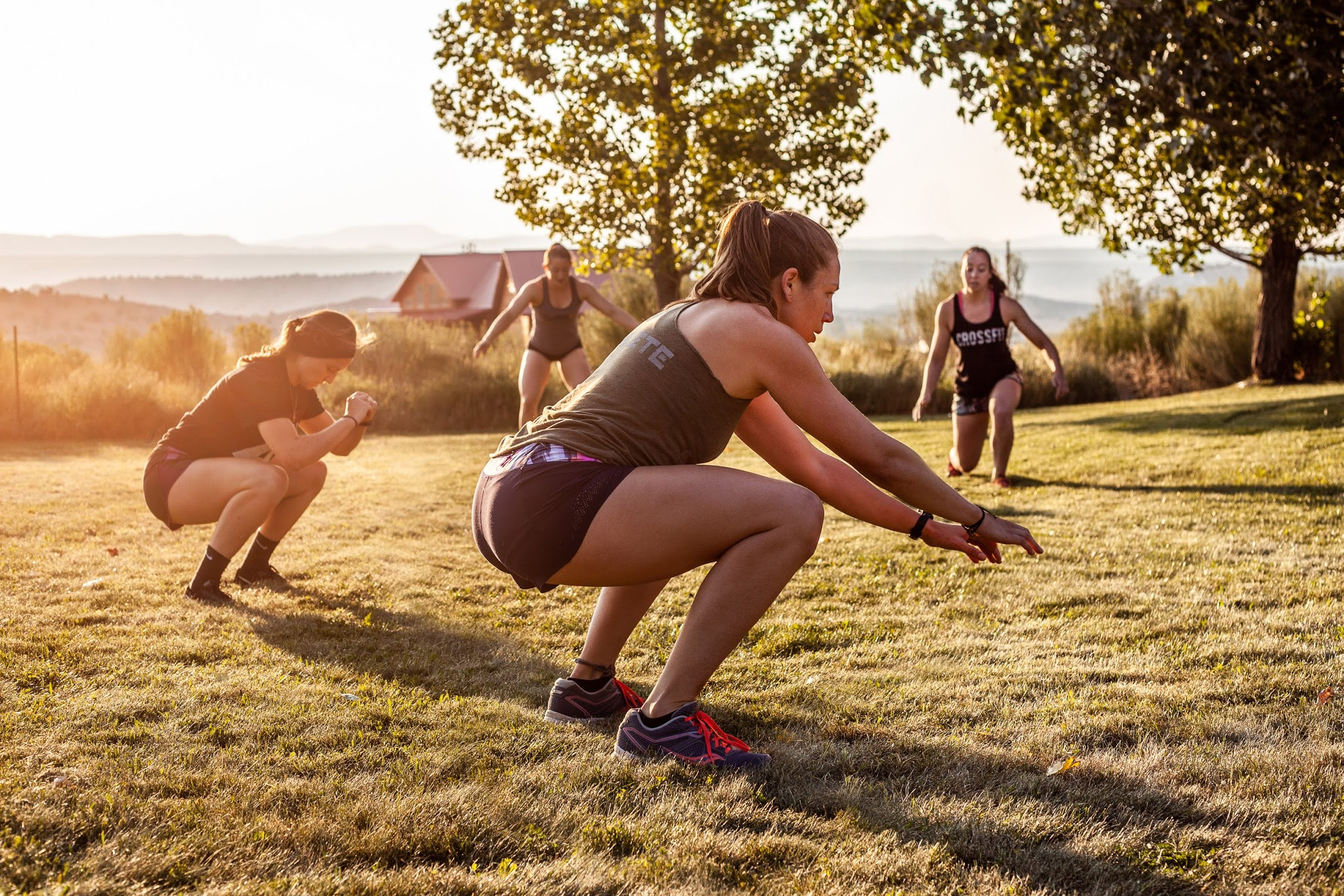 national parks air squats travel workout