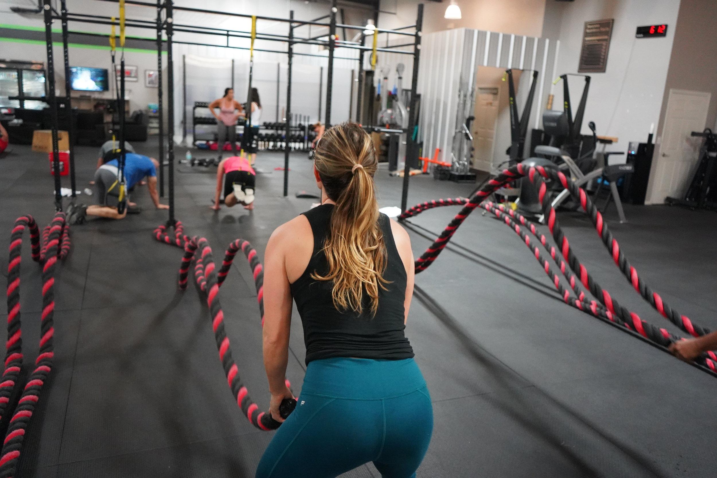 women exercising fitness travel