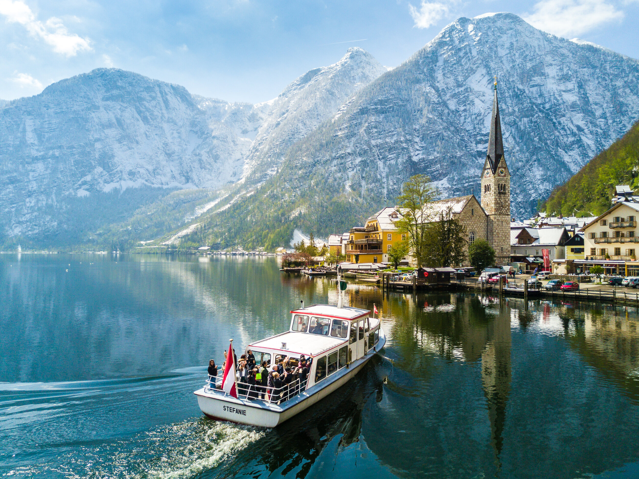 Boat tours on Lake Hallstatt are one of the premiere activities