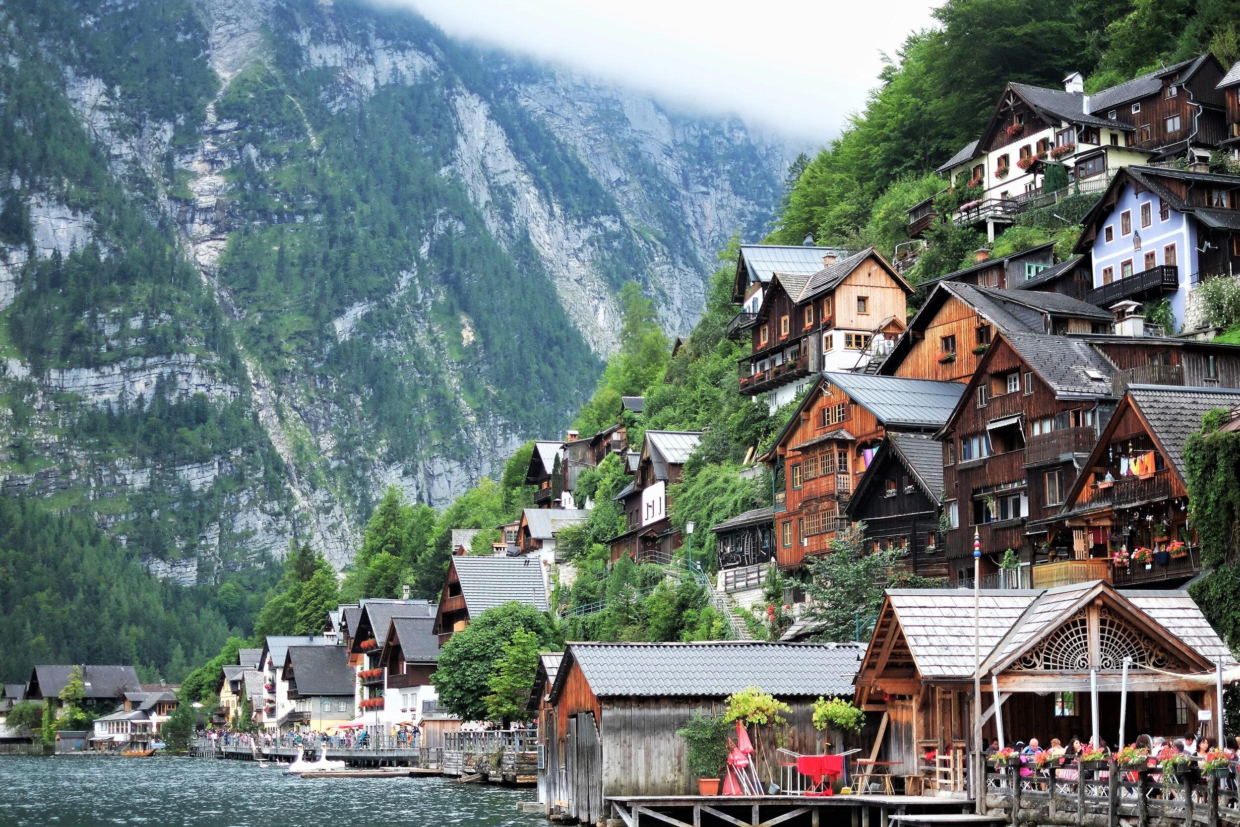 The beautiful town of Hallstatt, Austria