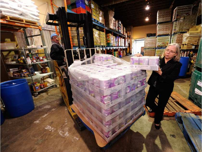 Photo by Ric Ernst, Vancouver Sun, Marilyn Herrmann, Executive Director, Surrey Food Bank