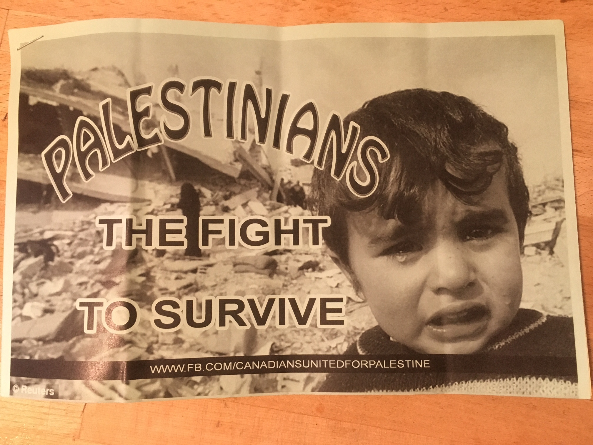 Free Palestine Flyer with Sad Child.JPG