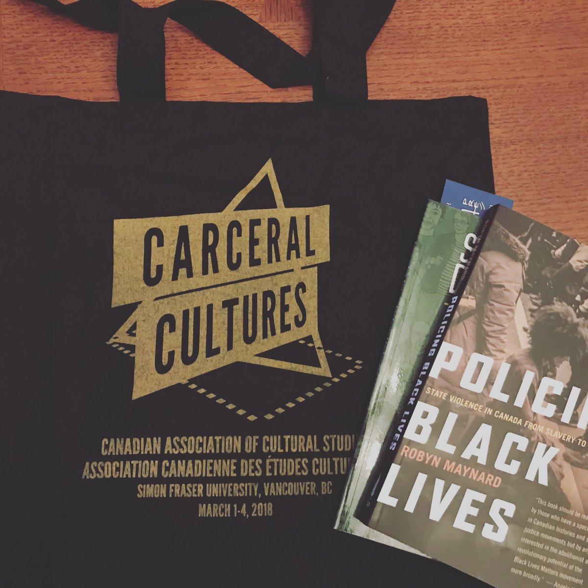 carceral cultures - book bag and book - march 2018.jpg