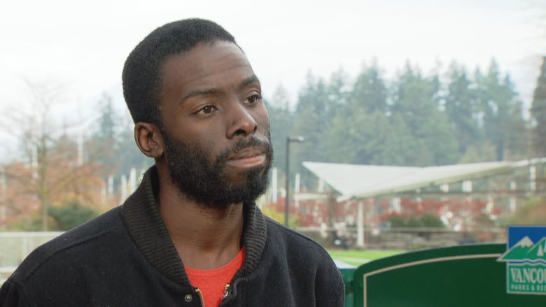 Desmond Cole was in Vancouver to deliver a talk at the Canadian Centre for Policy Alternatives. (CBC)