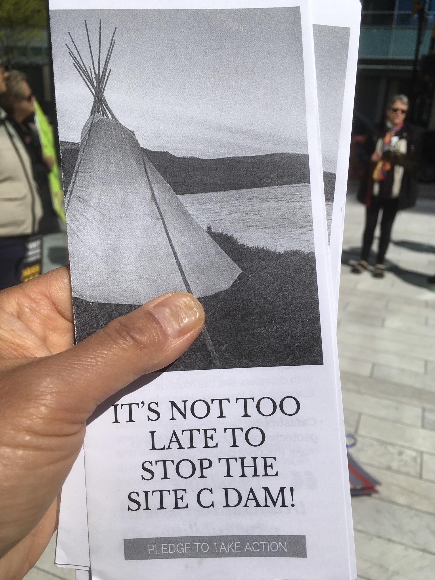 SNC-Lavalin Site C Protest - 745 Thurlow st. - April 12, 2019 (3).JPG