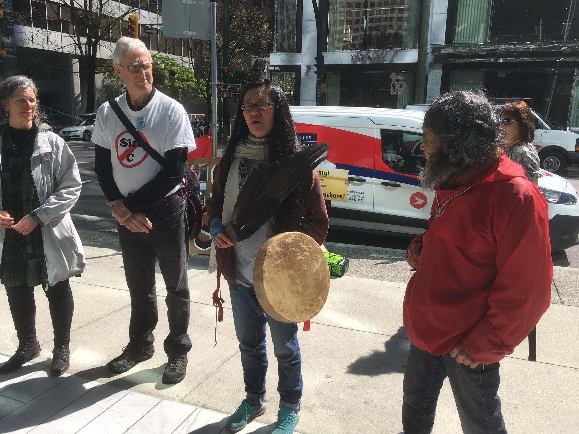 SNC-Lavalin Site C Protest - 745 Thurlow st. - April 12, 2019 (6).JPG