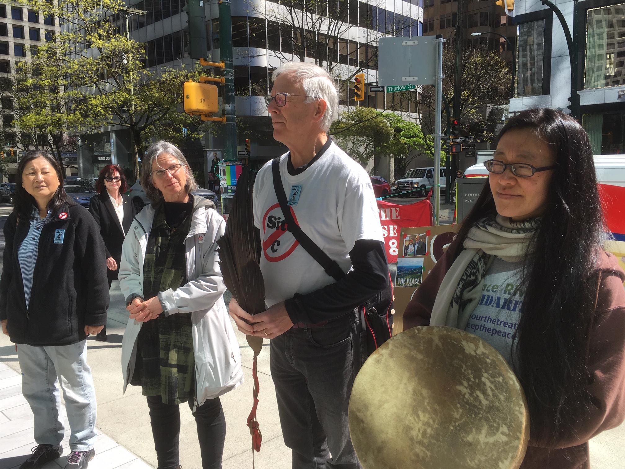 SNC-Lavalin Site C Protest - 745 Thurlow st. - April 12, 2019 (7).JPG