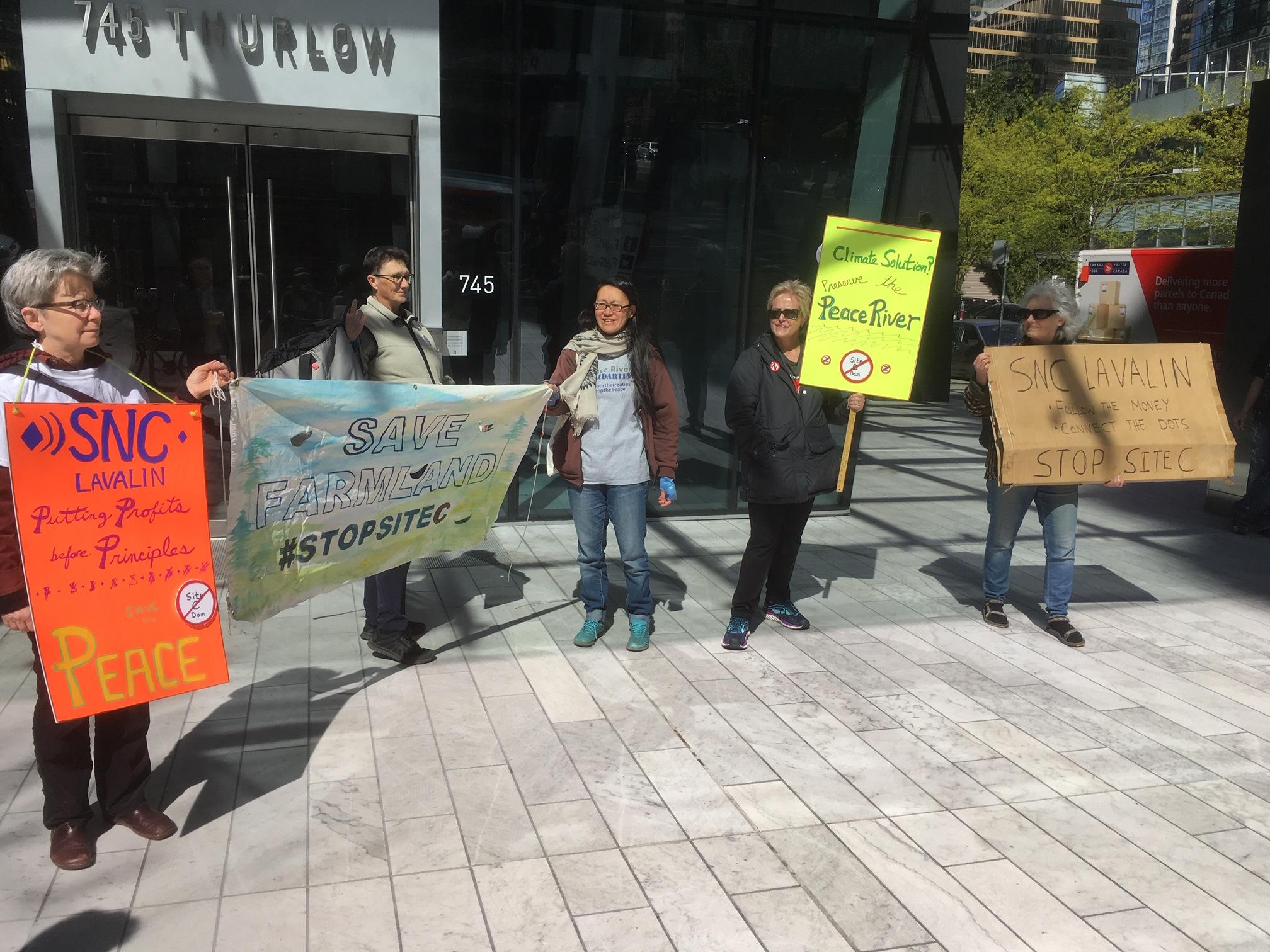 SNC-Lavalin Site C Protest - 745 Thurlow st. - April 12, 2019 (11).JPG