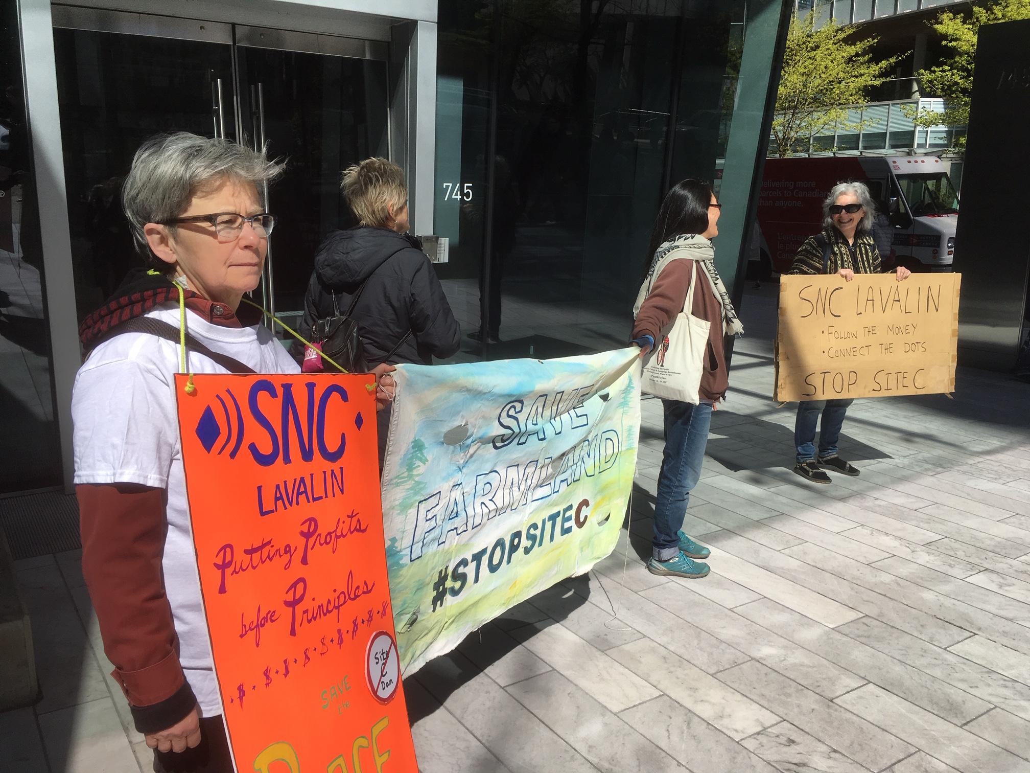 SNC-Lavalin Site C Protest - 745 Thurlow st. - April 12, 2019 (13).JPG