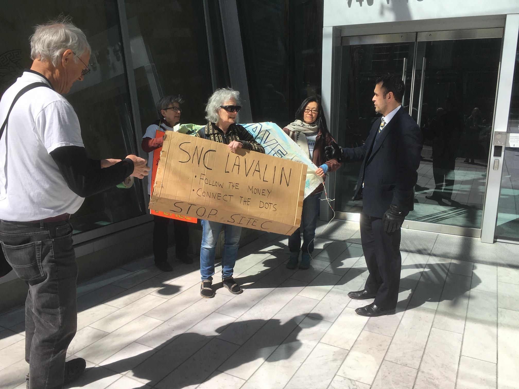 SNC-Lavalin Site C Protest - 745 Thurlow st. - April 12, 2019 (15).JPG