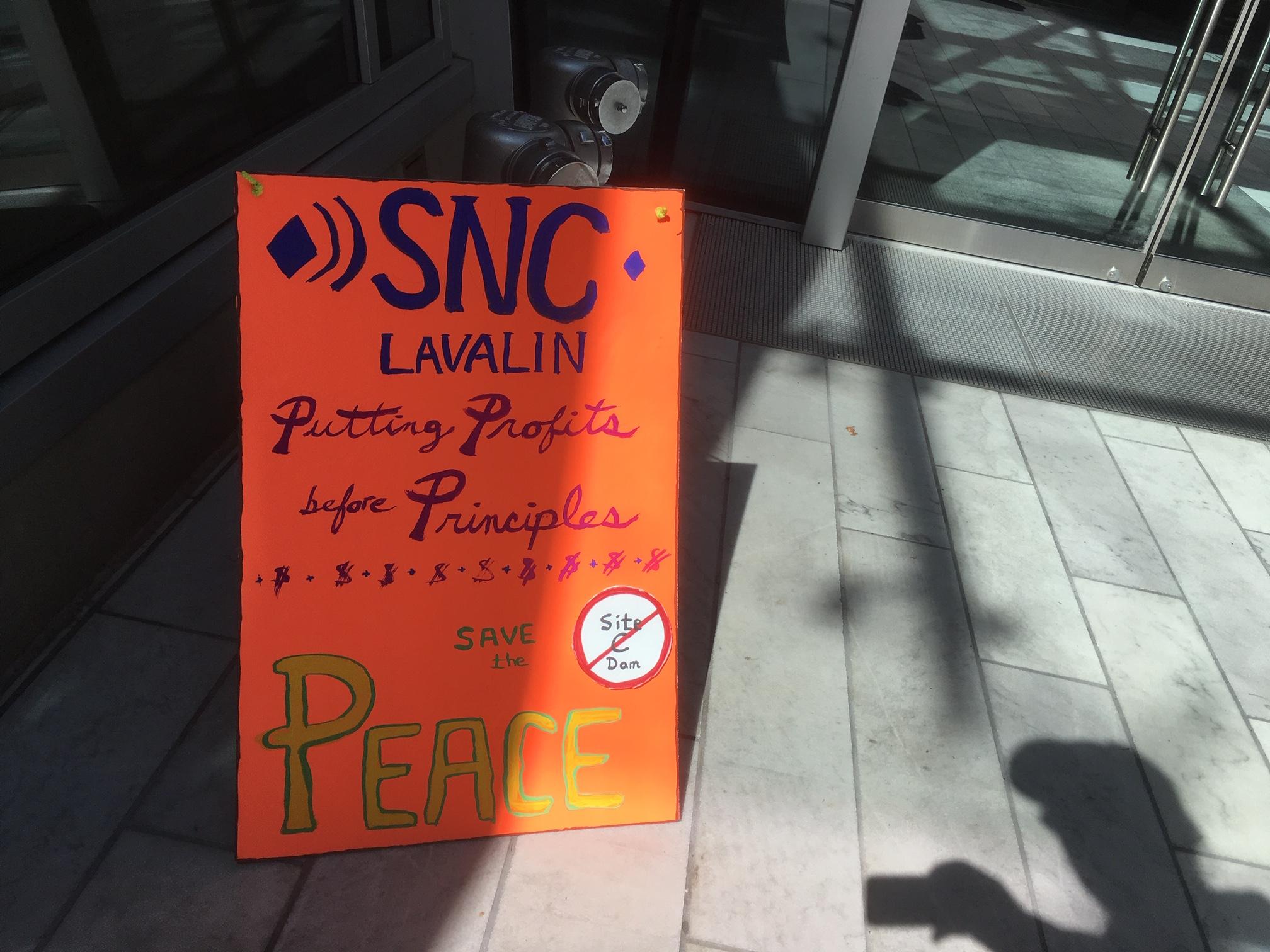 SNC-Lavalin Site C Protest - 745 Thurlow st. - April 12, 2019 (19).JPG