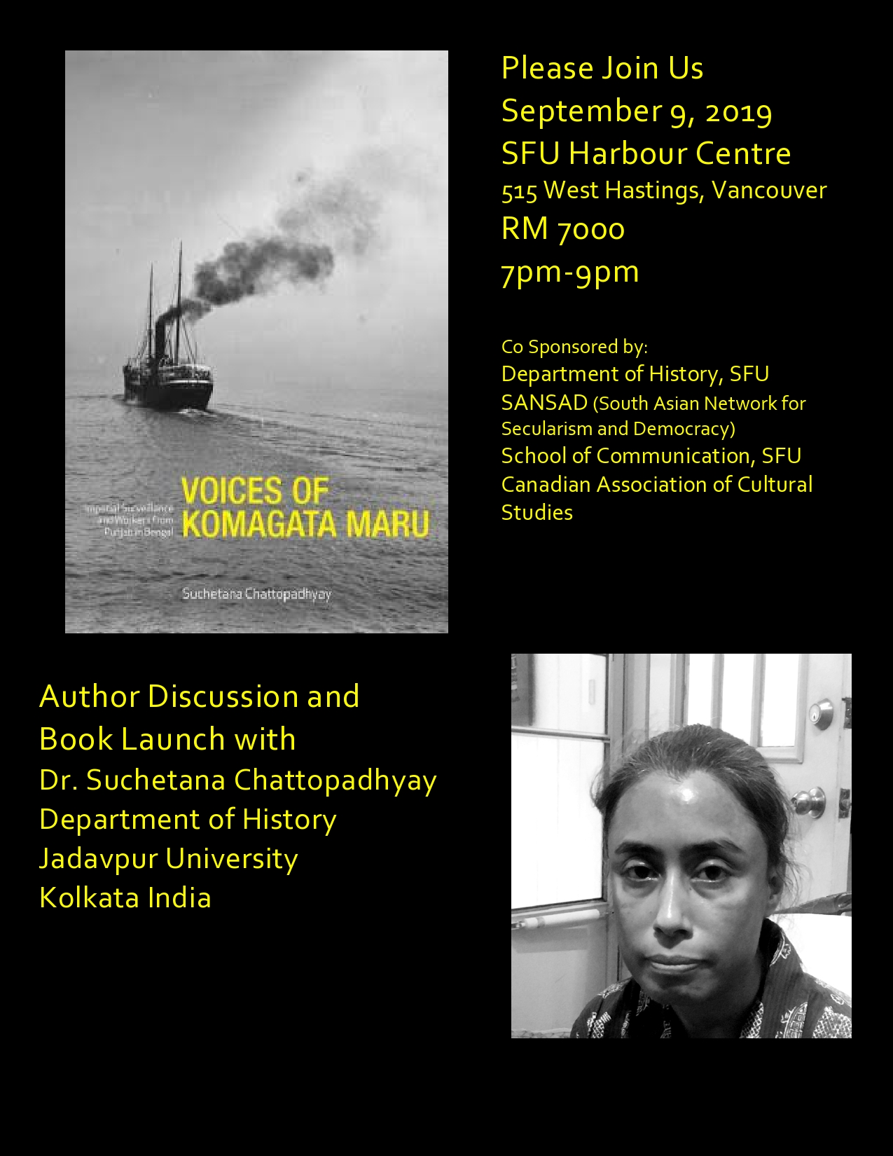Chattopadhyay book launch - SFU Harbour Centre - Sept 9, 2019 final.jpg
