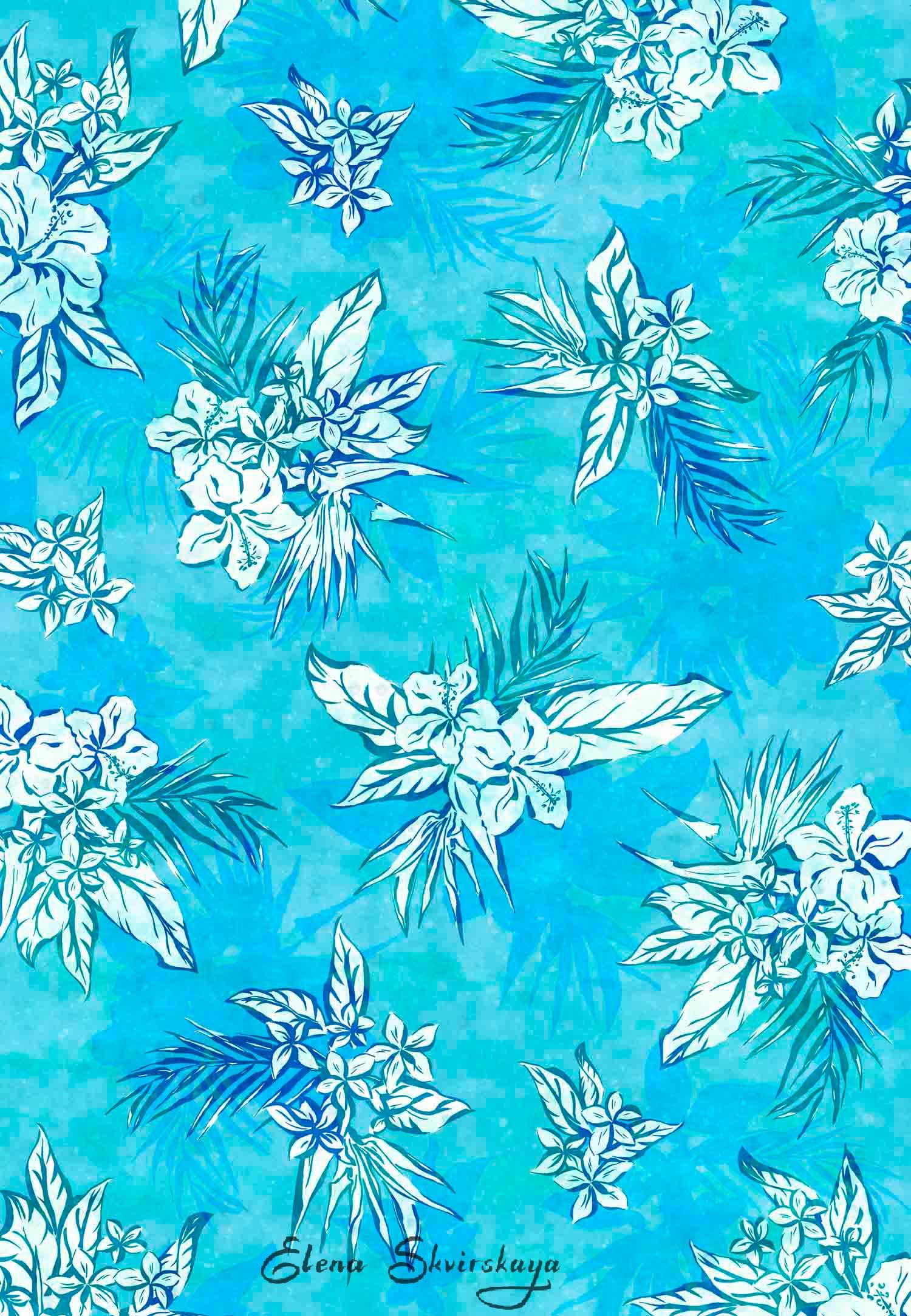 tropical print for fashion, swimwear, resort wear, home decor