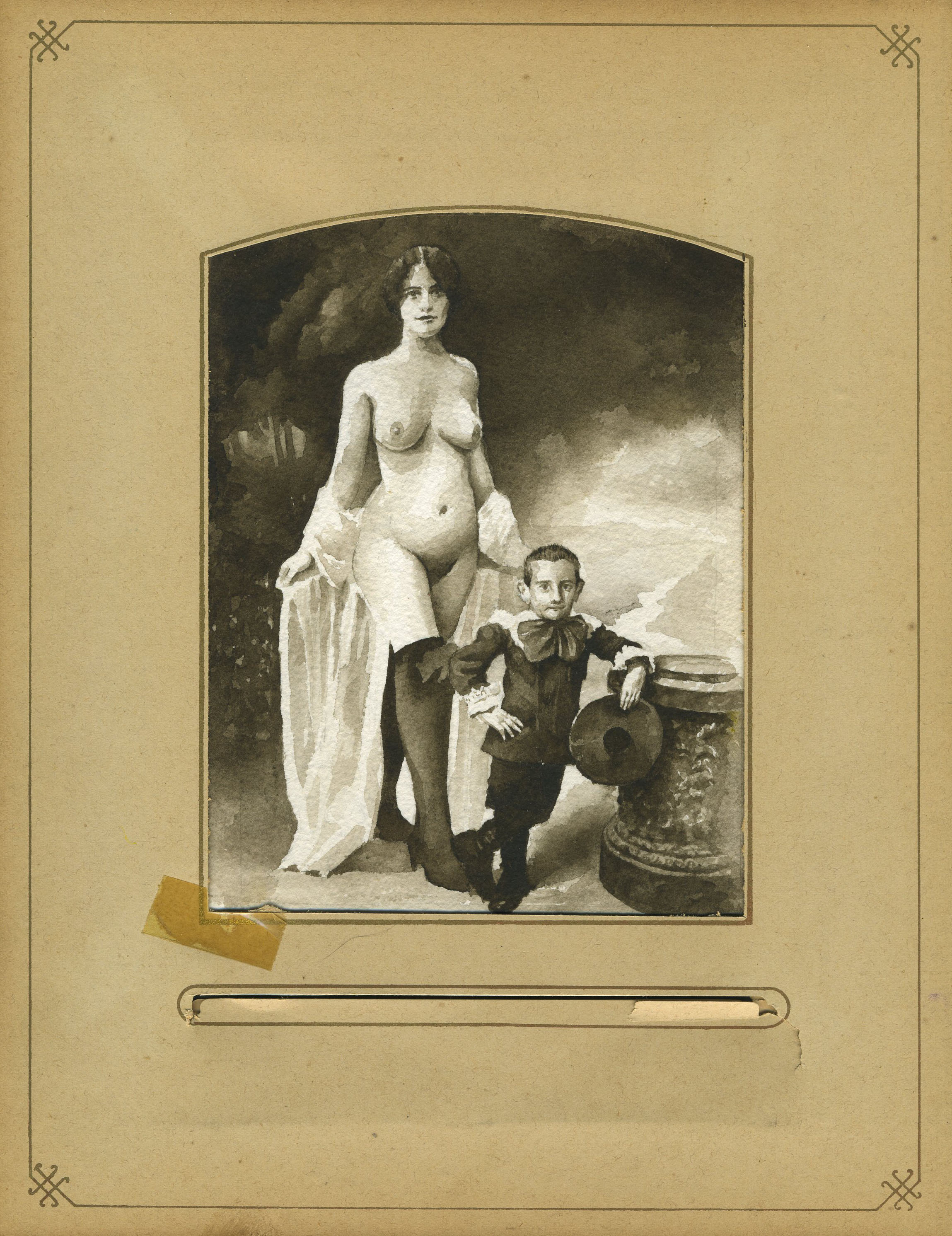 SEPIA LADY AND BOY