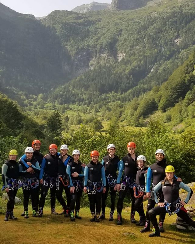 So the bride and groom who just got married in France , just so happen to he the most adventurous and unreal humans. For their wedding we all went canyoning with @horizonvertical09 🇫🇷 . No cameras were brought in and I am kicking myself for not having the go pro ! Good excuse to go again . Where have you gone canyoning ? #roamtheplanet #lookslikefilm #adventurewedding #elopementwedding #roam #beautifuldestinations #greatpyrenees #pyrenees #naturephotography #elopeinparis #elopeinitaly #elope #wildelopements #banffelopement