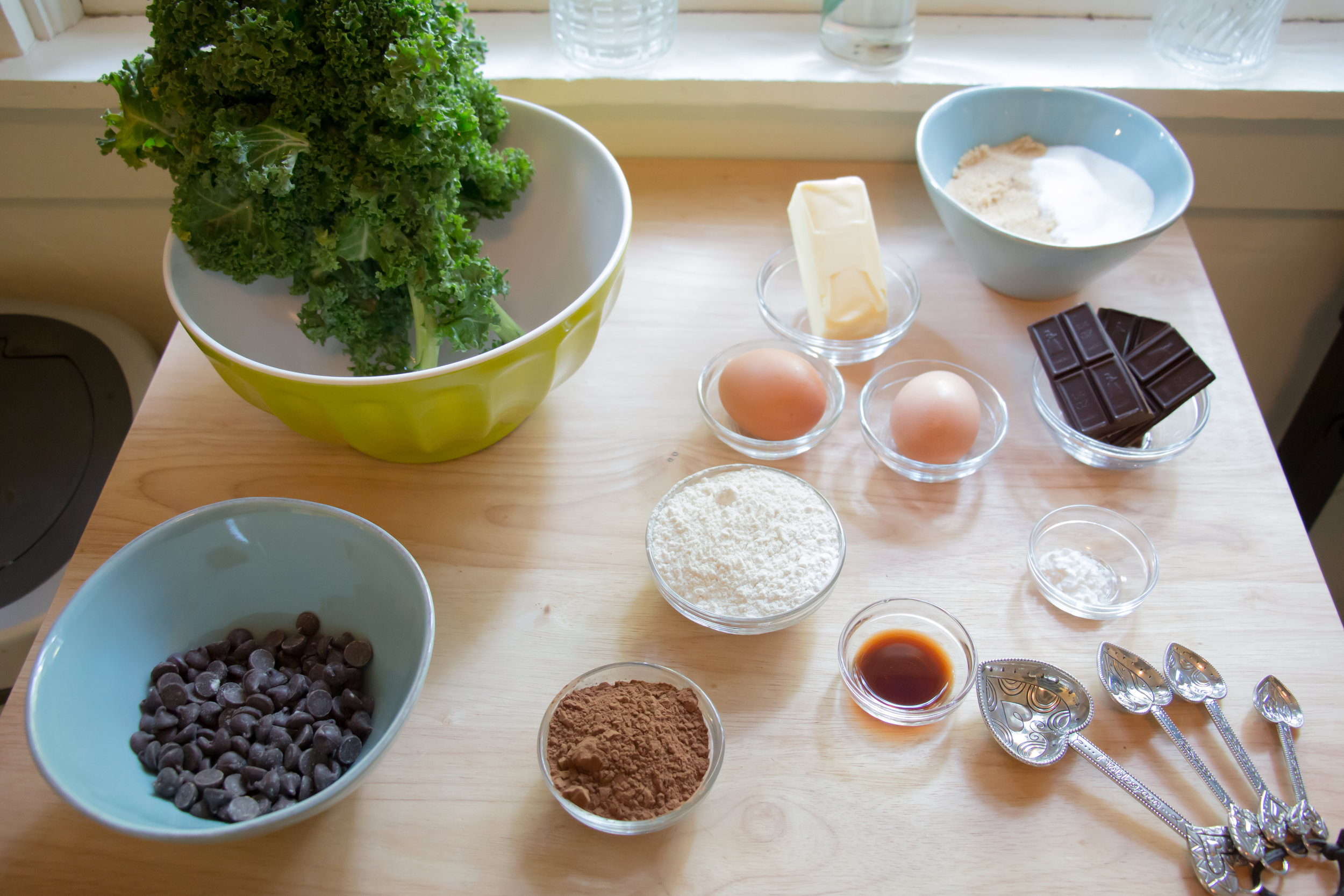 Having ingredients measured out ahead of time makes the baking process much smoother!